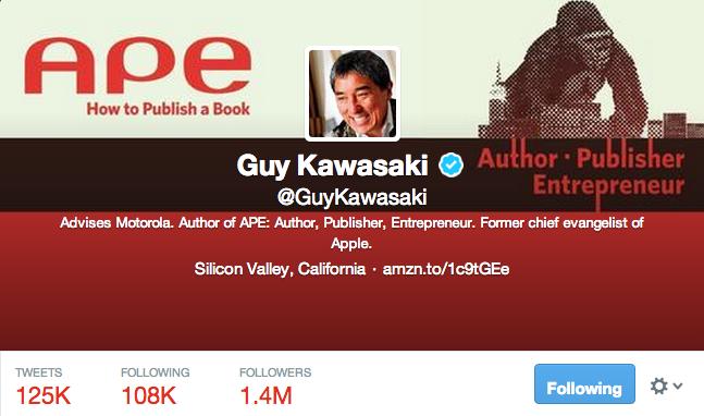 Guy Kawasaki twitter pro