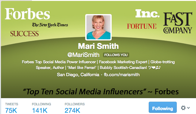Mari Smith Twitter Profile