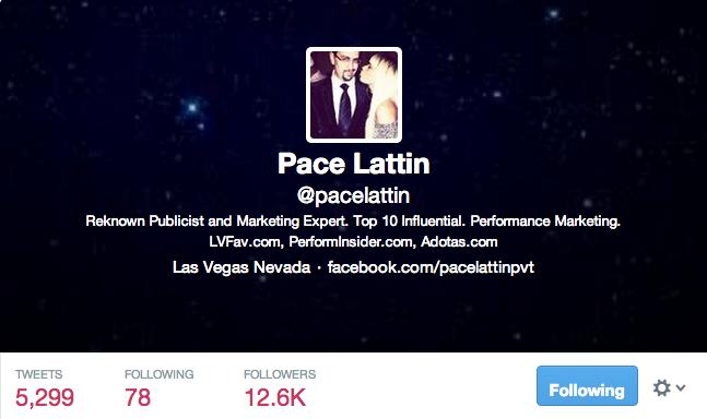 Pace Lattin twitter profile
